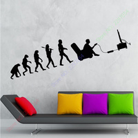 New Computer Boys Vinyl Wall Decal Gamer Evolution Video Game Kids Room Mural Art Wall Sticker