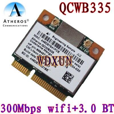Atheros Qcwb335 Qca9565 Wifi Sans Fil Bluetooth Bt 4.0 Carte 150 mbps 689457-001 Interne Pci-e mini pcie 802.11n Pour ordinateur portable