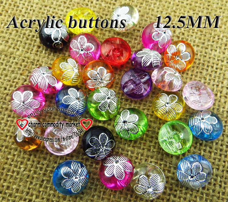 50 pcs 8 MM acrylique perles perles beads MIX bijoux bricolage Acrylique