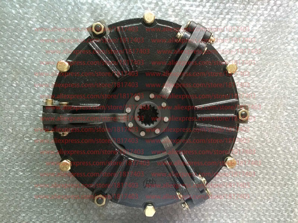 """304.21S.012 10"""" Three finger type Dual stage clutch Assembly with PTO disc for JINMA/JM 30 35HP tractors-in Generator Parts & Accessories from Home Improvement    1"""