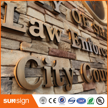 Customize designed 3D Metal Outdoors Channel Letters
