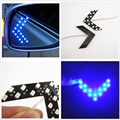 2pcs Amber Arrow Panel 14 SMD 1210 Blue LED Light For Car Side Rear View Mirror Indicator Turn Signal Light