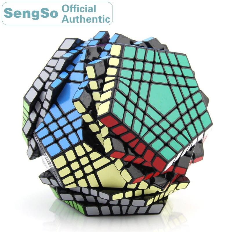 ShengShou Megaminxeds 7x7x7 Cube magique 7x7 Teraminxeds Cubo Magico professionnel néo vitesse Cube Puzzle Antistress Fidget jouets enfant