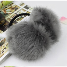 Fluffy Earmuffs Ear-Warmers Earlap Winter Women Girl Soft CUHAKCI Solid U-Pick Plush