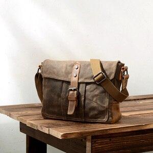 Image 1 - ABDB Crossbody MenS Shoulder Bag Waterproof Canvas Bag MenS Casual Messenger Bag