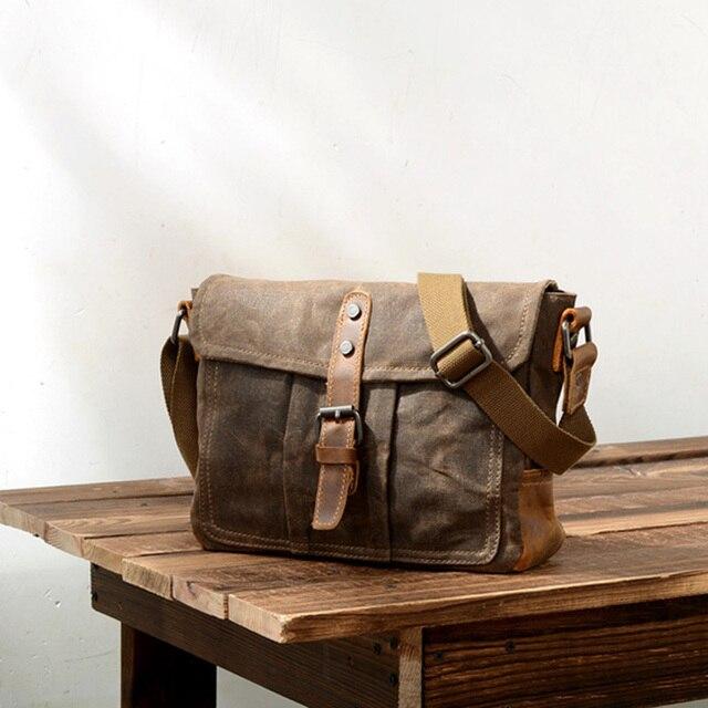 ABDB Crossbody MenS Shoulder Bag Waterproof Canvas Bag MenS Casual Messenger Bag