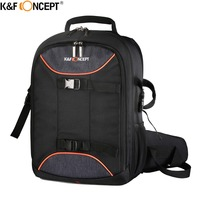 K F CONCEPT DSLR Camera Photo Bag Backpack Waterproof Nylon Hard Bag With All Weather Cover