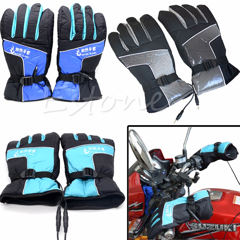 Motorcycle gloves heated battery - 1pair Motorcycle Outdoor Men Women Electric Heated Warmer Gloves Battery Power China Mainland