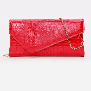 Arsmundi Clutch Bag New Crocodile Pattern Tide Luxury Women Envelope Shoulder Bag Fashion Messenger Bag Banquet Evening Handbag