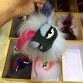 Pele de raposa e de pele de vison super macio Pequeno Monstro Brinquedos de Pelúcia boneca Pingente Pequeno Saco Acessório Legal Lafayette Karlito