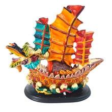 """Feng Shui """"Cai Yun Heng Tong"""" Dragon Wealth Ship Boat"""
