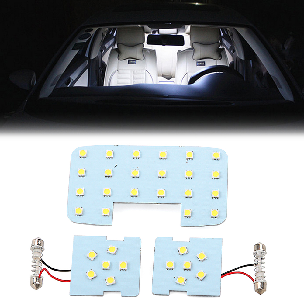 3pcs car reading lights dome lamps led interior lights white color suitable for kia rio k2 2006. Black Bedroom Furniture Sets. Home Design Ideas
