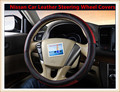 HOT SALE Car Leather Steering Wheel Covers Fit  for Nissan Sylphy/X-Trail/Teana/Tiida/sunny/Qashqai Cheap&High Quality