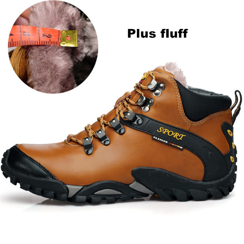 Winter Sneakers men cotton shoes Outdoor High top Snow Running shoes leather cashmere plus cotton thickening warm Sports shoes keloch new style men running shoes outdoor jogging training shoes sports sneakers men keep warm winter snow shoes for running