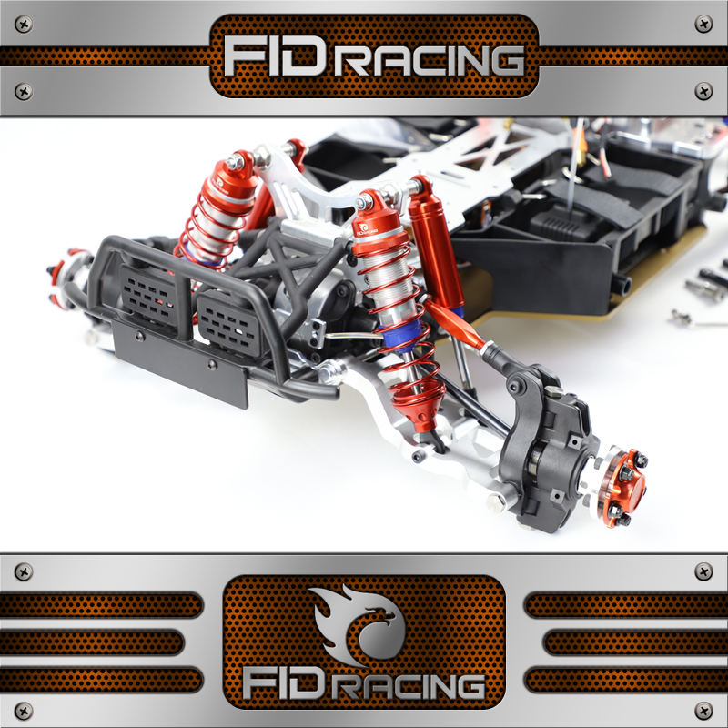 FID racing Aluminum Front Suspension Arm with Shock Damper For FID Dragon HammerVOLTZ-in Parts & Accessories from Toys & Hobbies    1