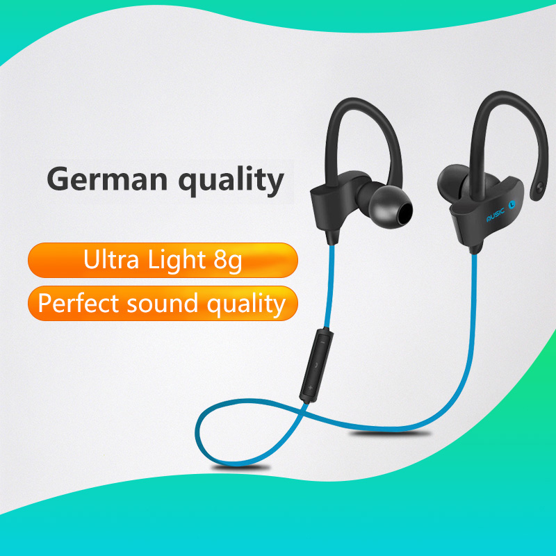 Sports In-Ear Wireless Bluetooth Earphone Stereo Earbuds Headset Bass Earphones with Mic for iPhone 6 xiaomi hybrid pro