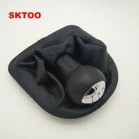 SKTOO Instrukcja 5 Prędkości Samochodu Pokrywa Uchwyt Dźwigni Zmiany Biegów Shift Shifter dźwignia Do Peugeot 206 306 307 30008 Citroen C2 Zmiany Biegów pokrętło