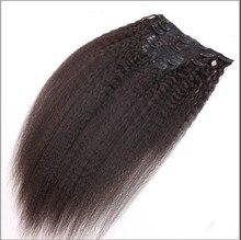 Unprocessed Kinky Straight Hair Extension Clip In Human Hair Extensions Straight Clip Ins 7A Grade Brazilian Virgin Hair
