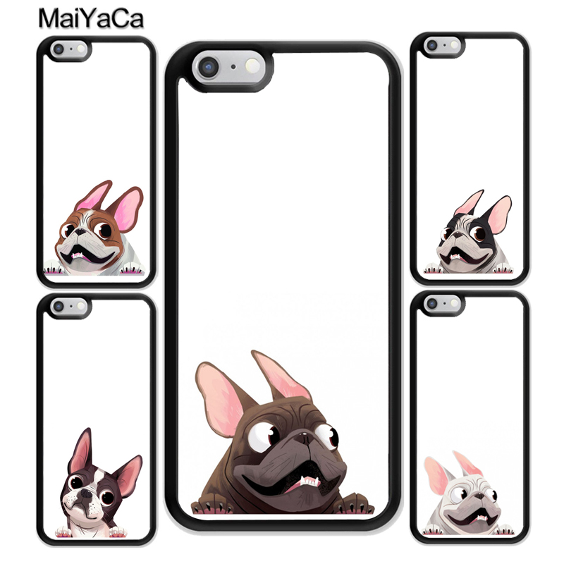 MaiYaCa whimsical french bulldog Cute Soft Rubber Phone Cases Accessories For