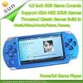 El envío Libre de mano Consola de Juegos reproductor mp4 pantalla de 4.3 pulgadas MP5 jugador del juego real 8 GB soporte para psp del juego, cámara, vídeo, e-libro
