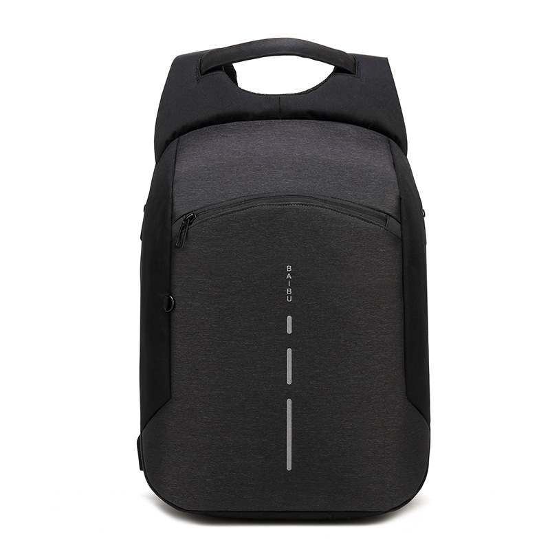 Baibu Men Multifunction Backpack Anti-theft Waterproof Design Laptop Backpack Student Boy School Bags For Teenagers Travel Bag #6