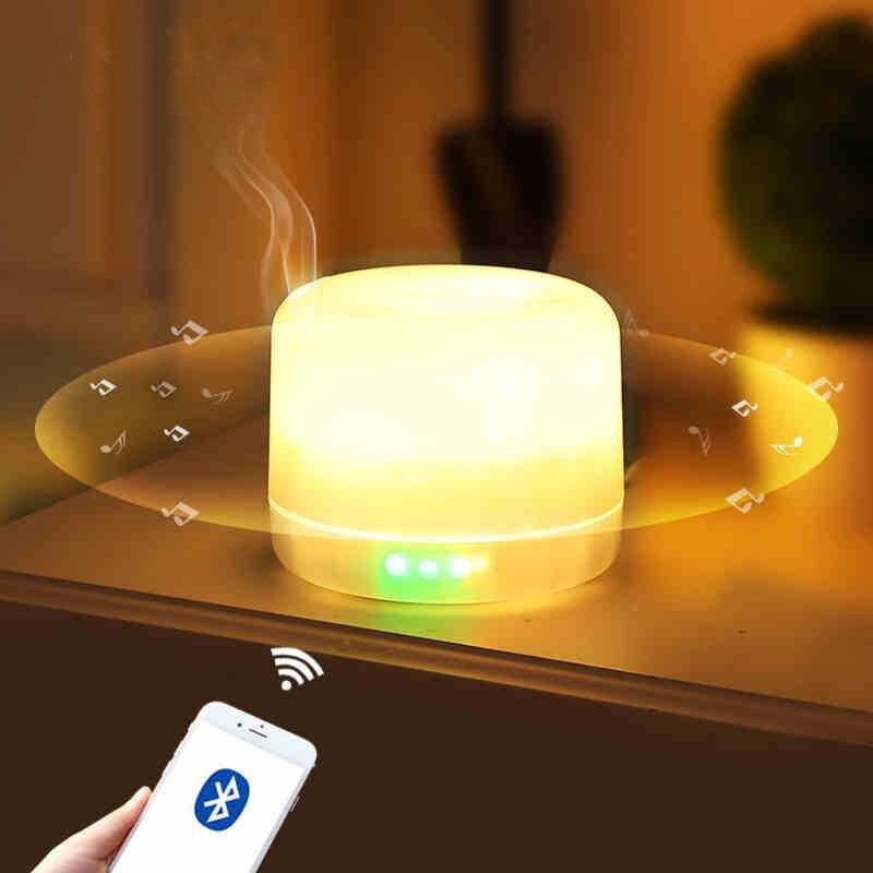 GZMJ Nachtverlichting Lamp Bluetooth Speaker Kleurrijke Essentiële Olie Geur Lamp Dimbare LED Licht Slaapkamer Nachtlampje Home Decor - 4