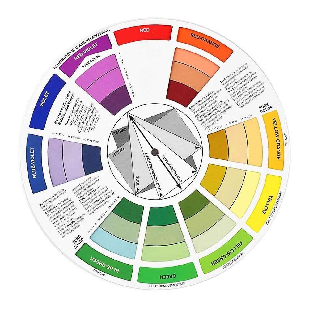 Roue de couleur chaude pour Amateur professionnel mélanger des Pigments de  tatouage de micromouillage accessoires de maquillage permanents wyt77