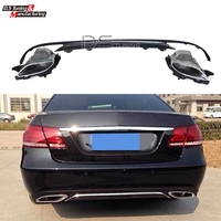 for Mercedes W212 E63 Style Diffuser Rear Lip with 4 outlet Exhaust Stainless Steel For Benz E Class W212 Facelift 2014 2016