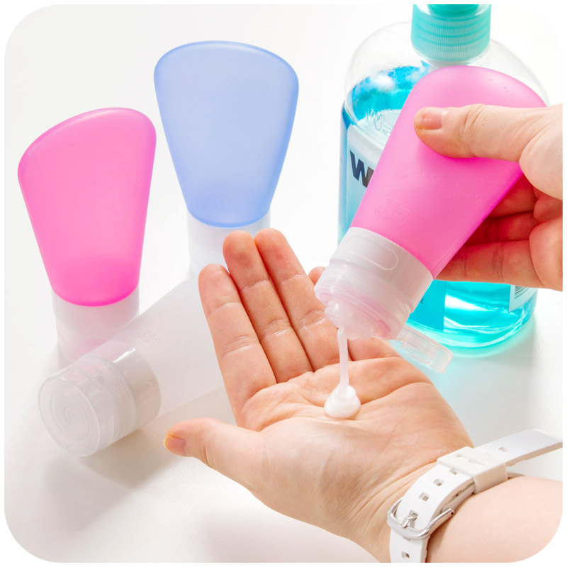 1PCS Silicone Soap Dispenser Travel Refillable Bottles Skin Care Lotion Shampoo Gel Squeeze Bottle 37/60/89ml Travel Bottle