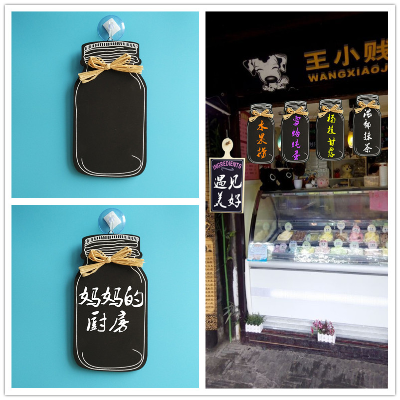 European new wooden milk cans blackboard / decoration listing / blackboard / WELCOME brand / dish brand