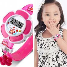 Lovely Kids Watches Flower Cute Children Watches Cartoon Silicone Digi