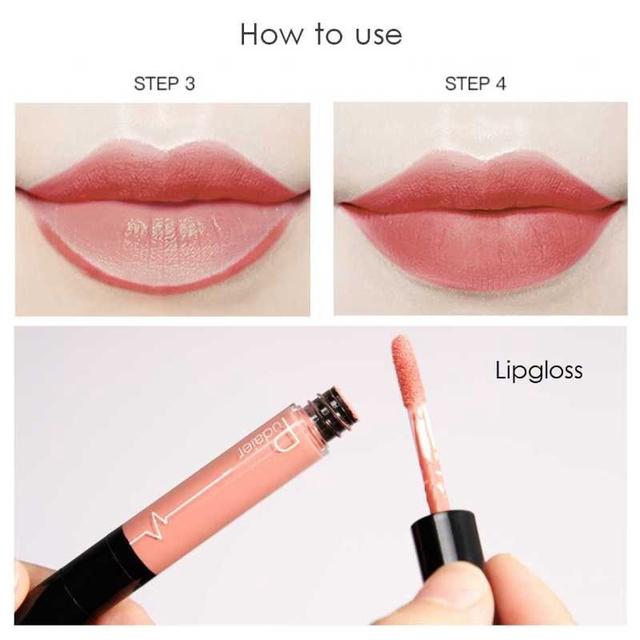 16 Color Double-ended Lipstick Lips Makeup Easy to Wear Matte Lip Gloss Lipliner Pencil Red Nude Pink Purple Liquid Lipsticks 4