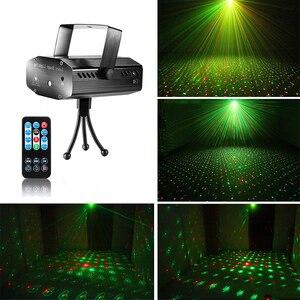 Image 3 - LED レーザープロジェクターディスコライト自動フラッシュ RG サウンド活性レーザーランプリモート DJ ディスコパーティー Soundlights クリスマスステージライト