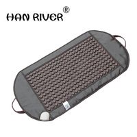 95*50CM Natural Real Jade Stone Tourmaline Thermal Massage Mat Far Infrared Ray FIR Heat Ceramic Mattress FREE GIFT