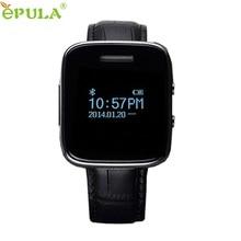 ของขวัญที่สวยงามใหม่E6สีดำหนังPUบลูทูธวันที่ข้อความผู้ชายสมาร์ทโทรศัพท์นาฬิกาจัดส่งฟรีMay27