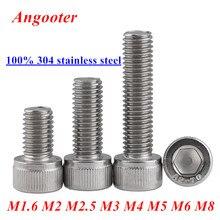 DIN912 Allen socket head screw 304 stainless steel M1.6 M2 M2.5 M3 M4 M5 M6 M8 Hexagon socket head cap screws hex socket screw