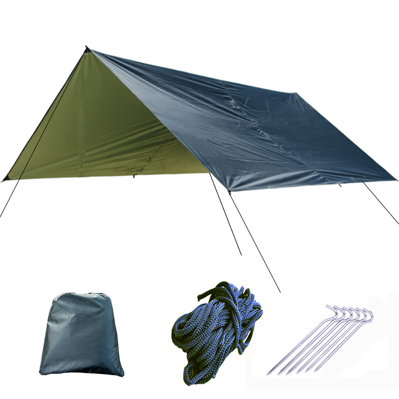 Image 2 - Ultralight Tarp Outdoor Camping Survival Sun Shelter Shade Awning Silver Coating Pergola Waterproof Beach Tent-in Tents from Sports & Entertainment