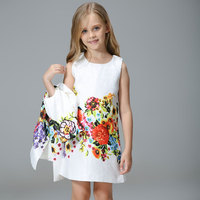 Girl Butterfly Suit Children Dress + Jacket High grade Flowers Vest Dress