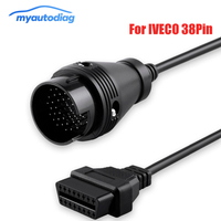 5PCS Promotion OBD2 Diagnostic Cable For IVECO 38Pin Connector to 16Pin Female OBD2 Truck Cable Diagnostic Tool OBD 2 Connector