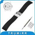 18mm 19mm 20mm 21mm 22mm 23mm 24mm caucho de silicona watch band para citizen hebilla de acero inoxidable correa de pulsera pulsera de la correa