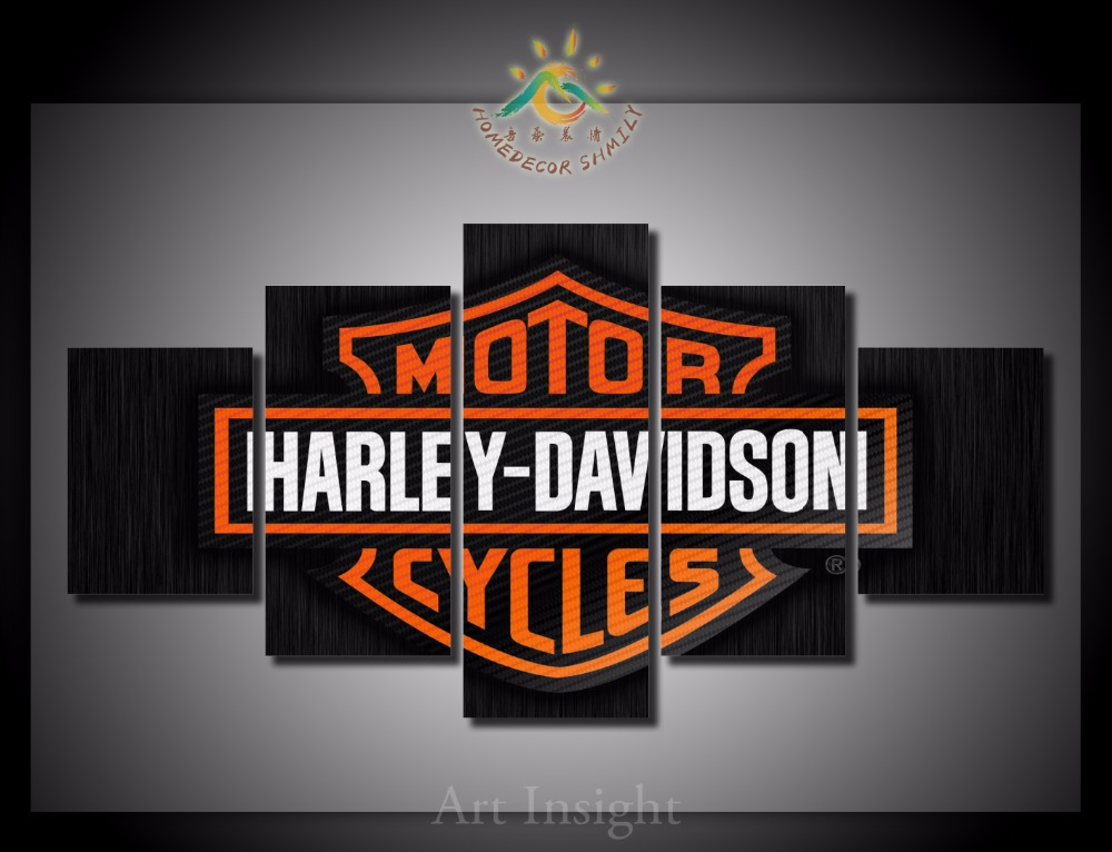 Aliexpress.com : Buy 5 Pieces/set Harley Davidson Pictures Wall Art  Paintings Picture Print On Canvas For Home Decoration Wall Art Picture From  Reliable ... Part 45