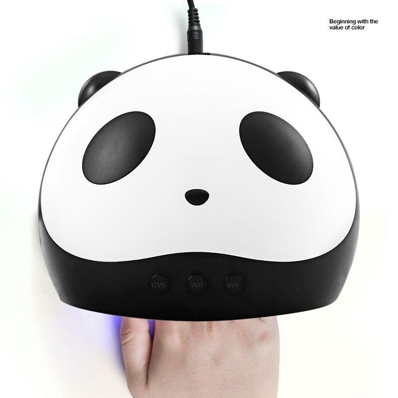 Panda Nagel Trockner 36 Watt Uv FÜhrte Nagel Lampen Smart Sensor 60/90/120 S Zeit Einstellung Maschine Für Härtung Uv Nagel Gel Polnisch Usb Stecker Schönheit & Gesundheit
