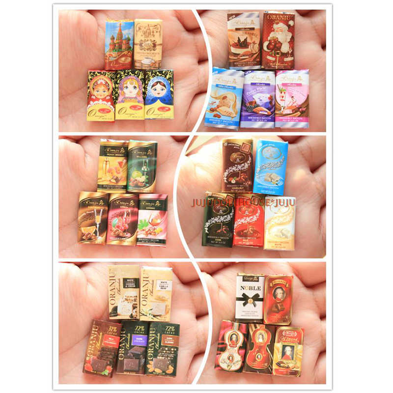 5PCS Cute Mini CHOCOLATE Dollhouse Miniature Doll Play Food Toy Accessories