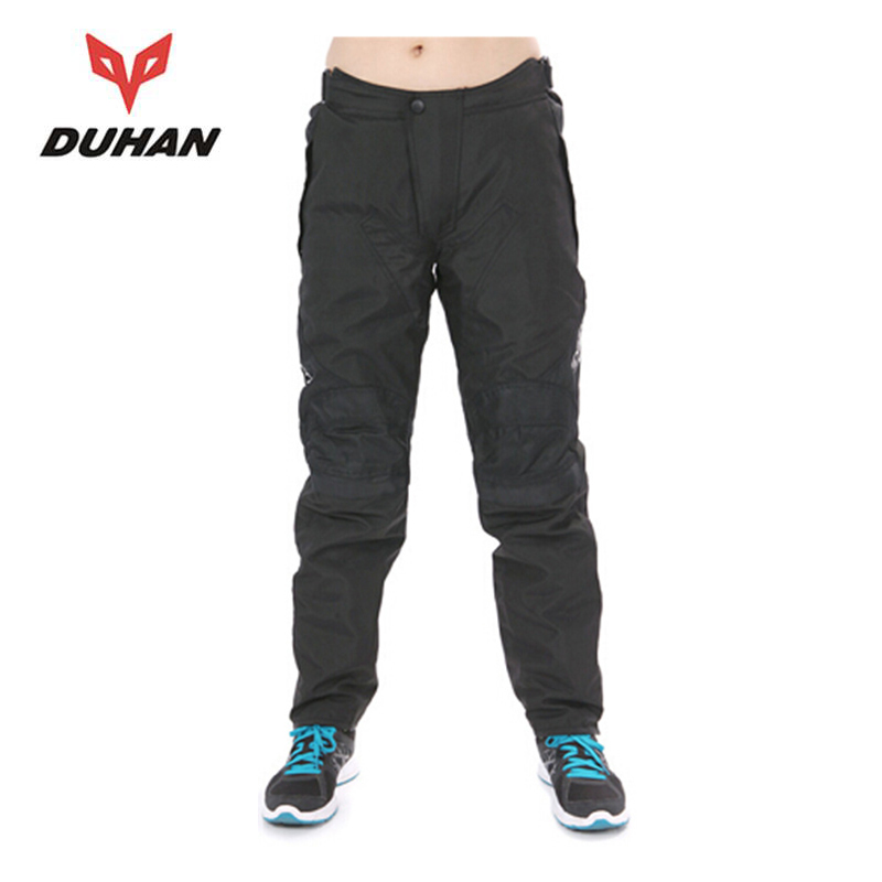 DUHAN Men's Oxford cloth fabric Motorcycle Windproof Racing Pantalon Moto Trousers Sports Riding pants Pants Clothing 09-BK simple fashion moistureproof sealing thick oxford fabric cloth wardrobe rustproof steel pipe closet 133d