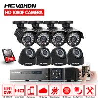 Главная Безопасность 8CH 1080P HDMI DVR Открытый AHD 1080 P CCTV камера системы 8 каналов товары теле и видеонаблюдения ночное видение комплект с 2 ТБ HDD