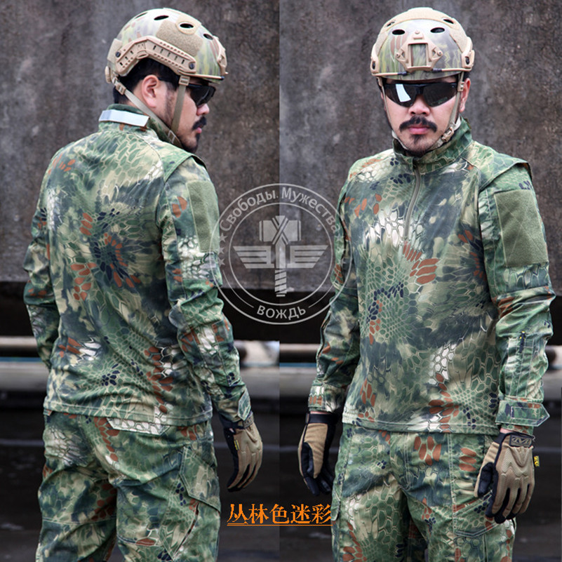 Hunting Army Military Camouflage Ghillie T-shirt Chasse Outdoor Tactical T-Shirt Hiking Camping Quick Dry Clothing Camo Tees aa shield camo tactical scarf outdoor military neckerchief forest hunting army kaffiyeh scarf light weight shemagh desert dig