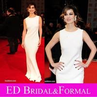 Berenice Marlohe White Dress Celebrity Evening Prom Formal Pageant Gown 2012 BAFTA Awards