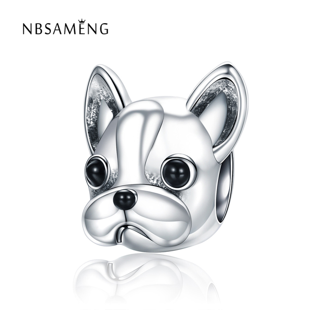 2018 100 Authentic 925 Sterling Silver Chihuahua Dog Charm Bead Fit Pandora Bracelets Bangles