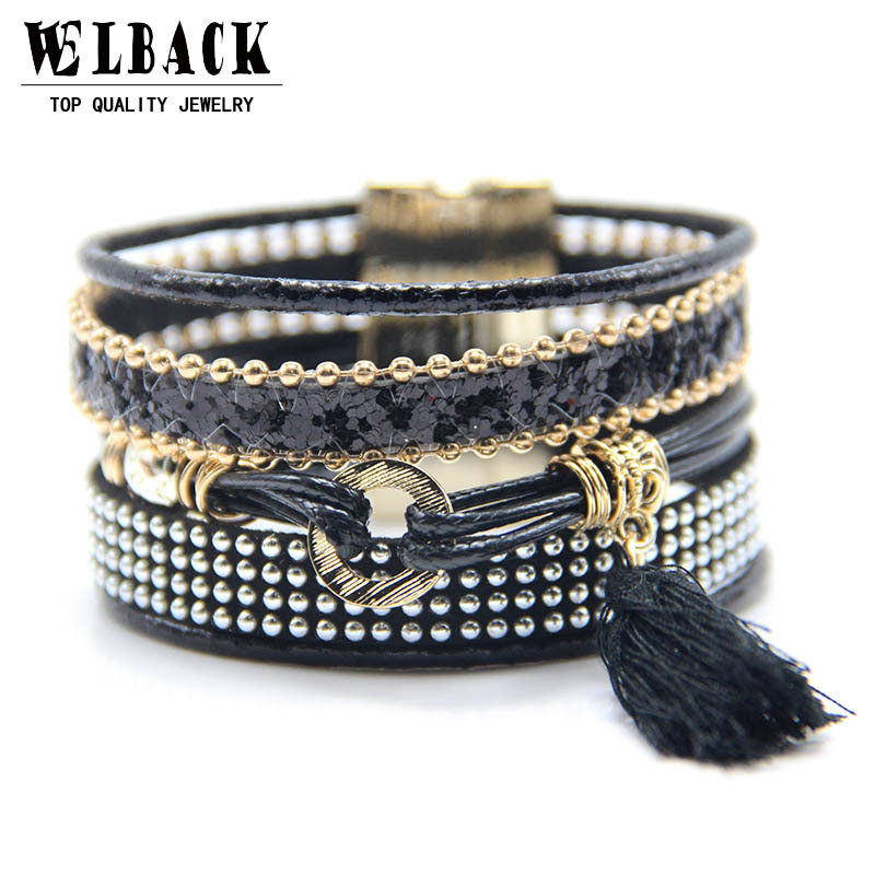 2017 The Latest Multi-layer Mixed Bohemian Braided Bracelet National Wind Combination Brazil Style Bracelet For Men