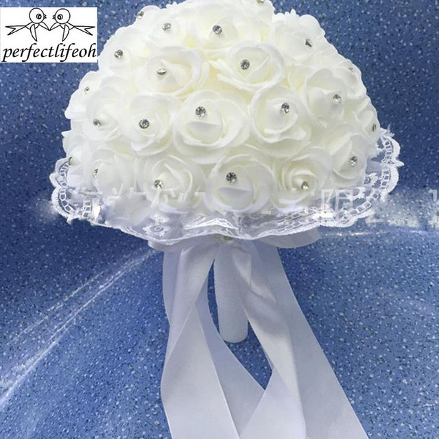 2017 Brides Royal Touch Rose Wedding Flowers Teardrop Impressive ...